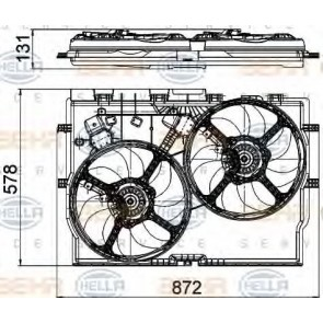 RADIATOR FAN FIAT DUCATO 06> 2.3 JTD