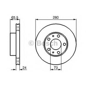 BRAKE DISC FIAT DUCATO 94> FRONT L/R VALVE 2.5 TD