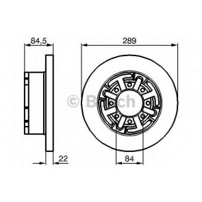 BRAKE DISC IVECO DAILY 00> REAR L/R 35.8