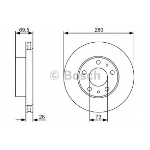 BRAKE DISC FIAT DUCATO 06> FRONT L/R 17Q LIGHT