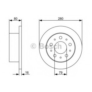BRAKE DISC FIAT DUCATO 06> REAR L/R 17Q HEAVY