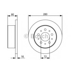 BRAKE DISC FIAT DUCATO 06> REAR L/R 11/1517LIGHT