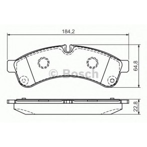 BRAKE PADS IVECO DAILY 06> REAR WITHOUT SENSOR 50-60-65 C15/C18