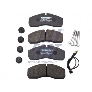 BRAKE PADS IVECO DAILY 00> FRONT 2-SENSORS 60/65C13