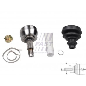 C.V. JOINT ALFA 166 98> OUTER 2.0 TS